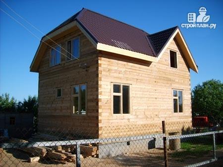 Фото 9: проект дом из бруса 7,5х8 с мансардой