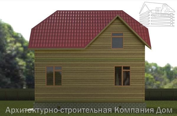 Фото 5: проект дом из бруса 7,5х8 с мансардой