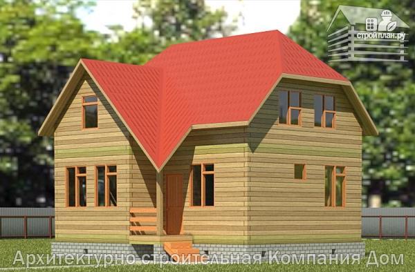 Фото: проект дом из бруса 7,5х8 с мансардой