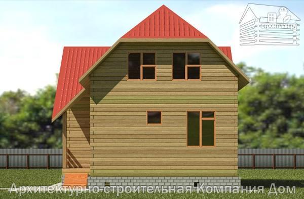 Фото 4: проект дом из бруса 7,5х8 с мансардой