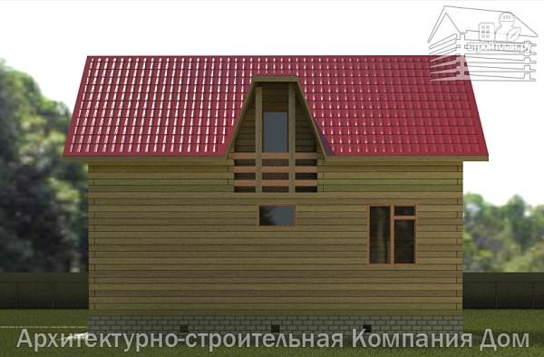 Фото 5: проект дом из бруса 6х9 с лоджией