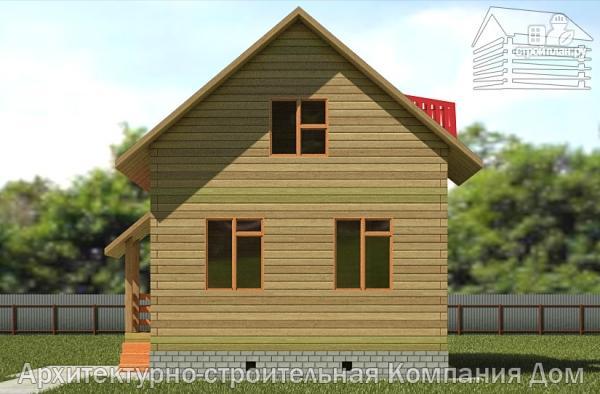 Фото 4: проект дом из бруса 6х9 с лоджией