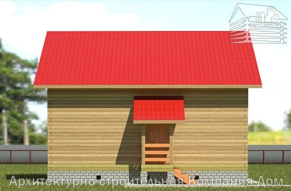 Фото 7: проект дом из бруса 6х9 с лоджией