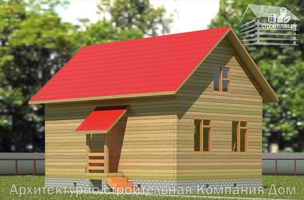 Фото: проект дом из бруса 6х9 с лоджией