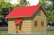 Проект дом из бруса 6х9 с лоджией