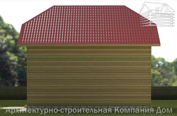 Фото 5: проект деревянный дом 6,5х8 с эркером и крыльцом