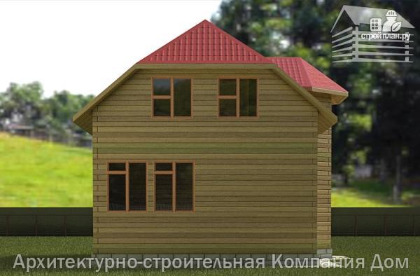 Фото 6: проект деревянный дом 6,5х8 с эркером и крыльцом