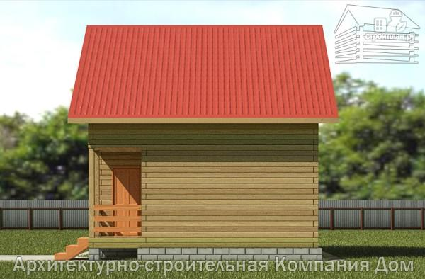 Фото 4: проект дом из бруса 6,5х7 с мансардой