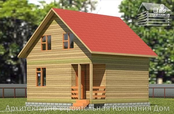Фото: проект дом из бруса 6,5х7 с мансардой