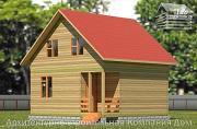 Фото: дом из бруса 6,5х7 с мансардой