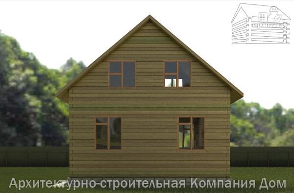 Фото 5: проект дом из бруса 6,5х7 с мансардой
