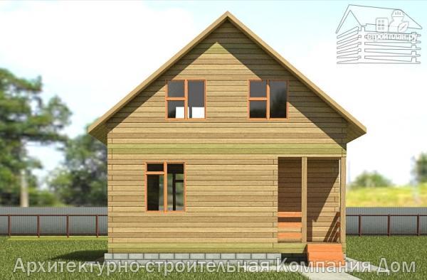 Фото 7: проект дом из бруса 6,5х7 с мансардой