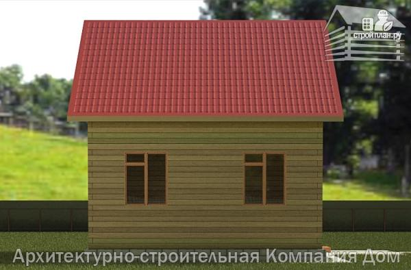 Фото 6: проект дом из бруса 6,5х7 с мансардой