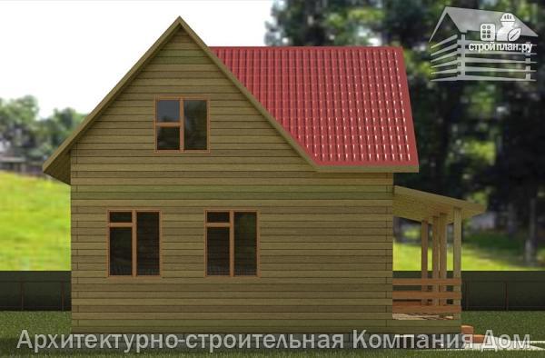 Фото 6: проект дом из бруса 6х7 с террасой