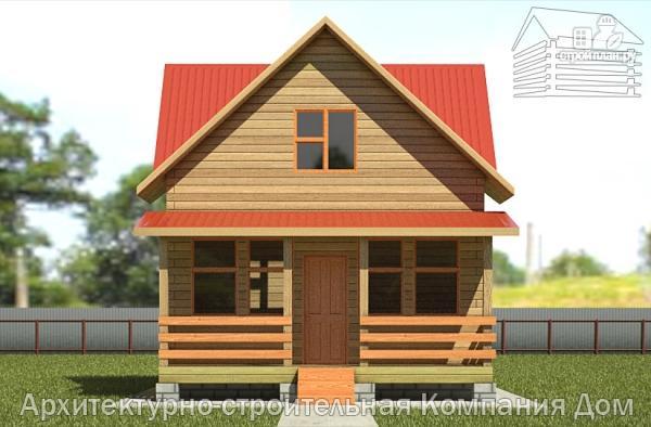 Фото 7: проект дом из бруса 6х7 с террасой
