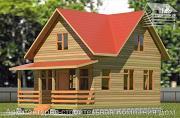 Проект дом из бруса 6х7 с террасой