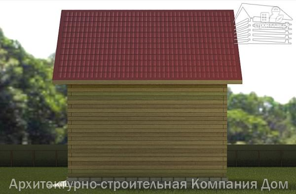 Фото 5: проект дом из бруса 6х7 с террасой