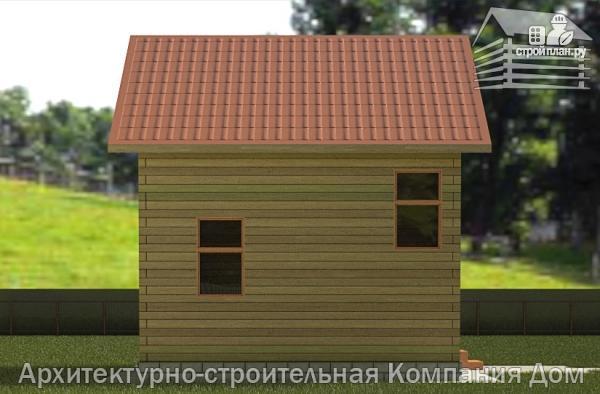 Фото 6: проект деревянный дом 6х6,5 с мансардой и крыльцом
