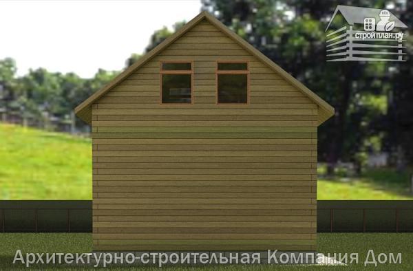 Фото 6: проект дачный дом 6х6 из бруса с террасой