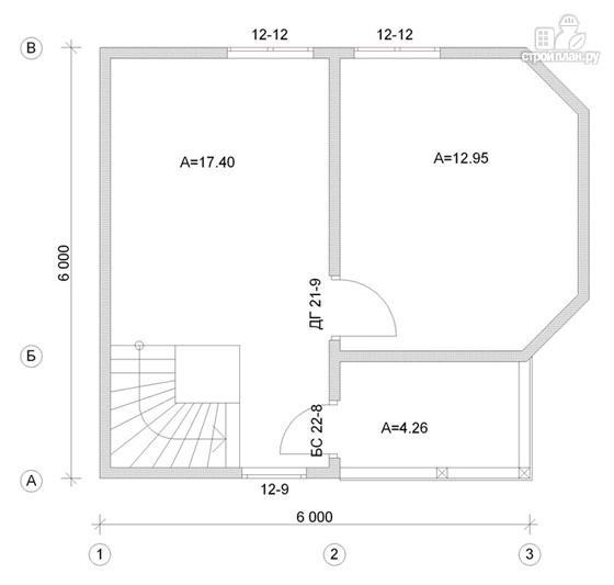 Фото 3: проект деревянный дом 6х6 с балконом и крыльцом