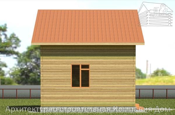 Фото 7: проект деревянный дом 6х6 с балконом и крыльцом