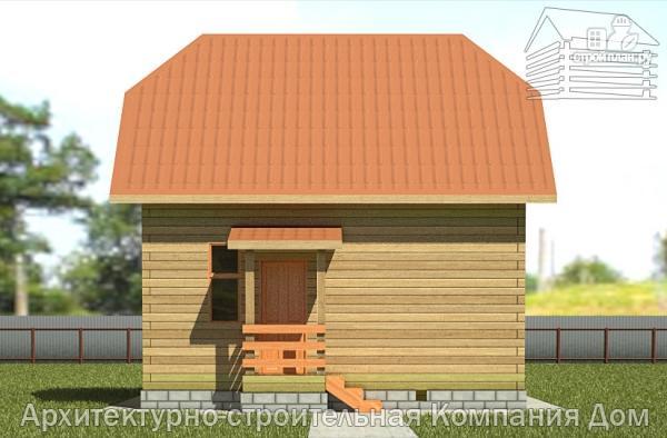 Фото 7: проект дом из бруса 6х7 с эркером в гостиной