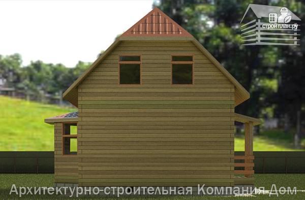 Фото 6: проект дом из бруса 6х7 с эркером в гостиной