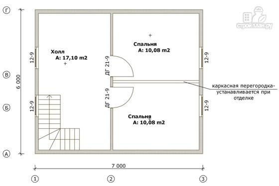 Фото 3: проект дом из бруса 6х7 с эркером в гостиной