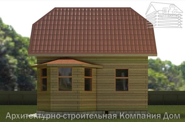 Фото 5: проект дом из бруса 6х7 с эркером в гостиной