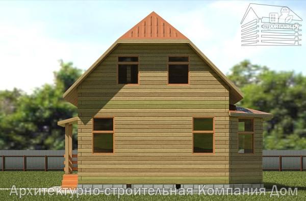Фото 4: проект дом из бруса 6х7 с эркером в гостиной