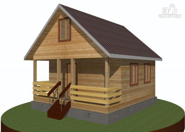 Фото 7: проект дачный дом 6х6 с террасой