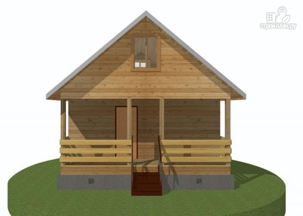 Фото: проект дачный дом 6х6 с террасой