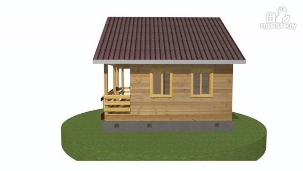 Фото 4: проект дачный дом 6х6 с террасой