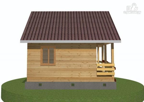 Фото 5: проект дачный дом 6х6 с террасой