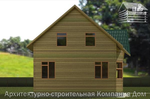 Фото 6: проект дом из бревна 7х8 с угловой террасой