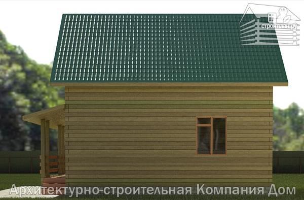 Фото 5: проект дом из бревна 7х8 с угловой террасой
