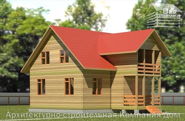 Фото: проект дом из бруса 7х9 с балконом