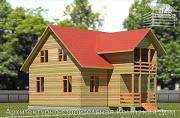 Проект дом из бруса 7х9 с балконом