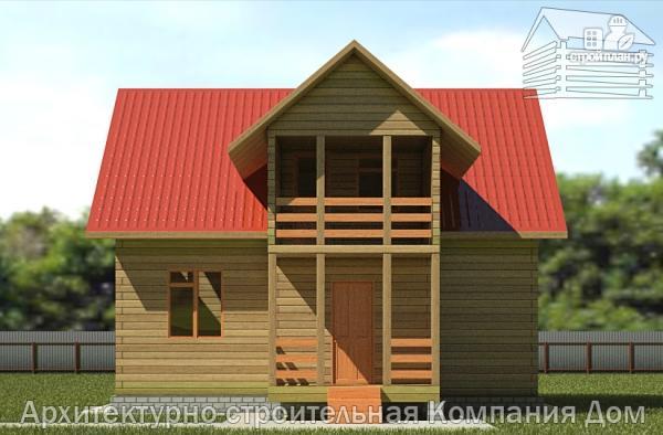 Фото 4: проект дом из бруса 7х9 с балконом