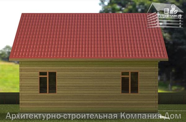 Фото 6: проект дом из бруса 7х9 с балконом