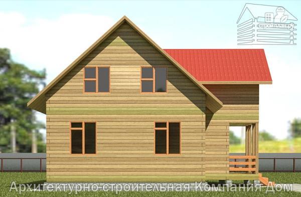 Фото 7: проект дом из бруса 7х9 с балконом