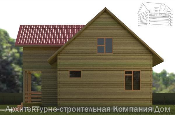 Фото 5: проект дом из бруса 7х9 с балконом
