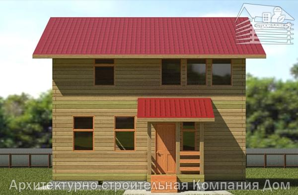 Фото 4: проект дом из бруса 8х8 с мансардой