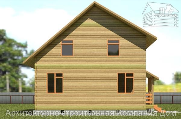 Фото 7: проект дом из бруса 8х8 с мансардой