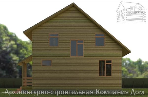 Фото 5: проект дом из бруса 8х8 с мансардой