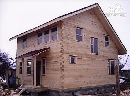 Фото 8: проект дом из бруса 8х8 с мансардой