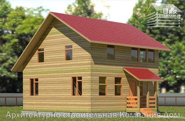 Фото: проект дом из бруса 8х8 с мансардой