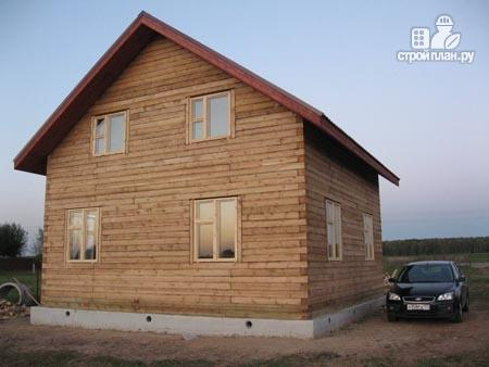 Фото 9: проект дом из бруса 8х8 с мансардой