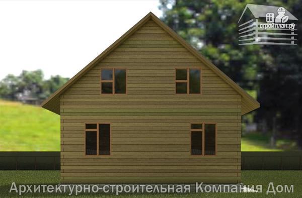 Фото 6: проект дом из бруса 8х8 с мансардой