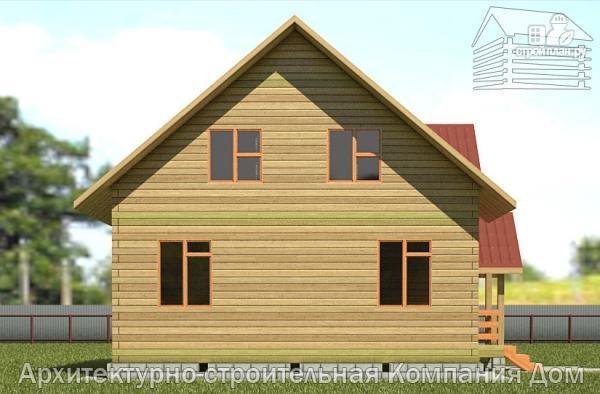 Фото 7: проект дом из бруса 8х8